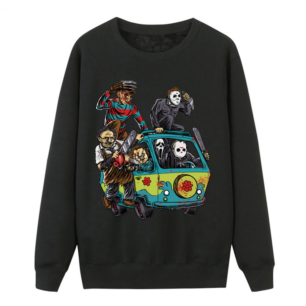 Jason Clown Saw Halloween Sweatshirts Hot Sell New Horror Movie Cartoon Hoodies Sweatshirts 2019 Loose Casual Pullover For Women