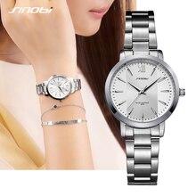SINOBI Women Watch Elegant Brand Famous Luxury Silver Quartz Watches