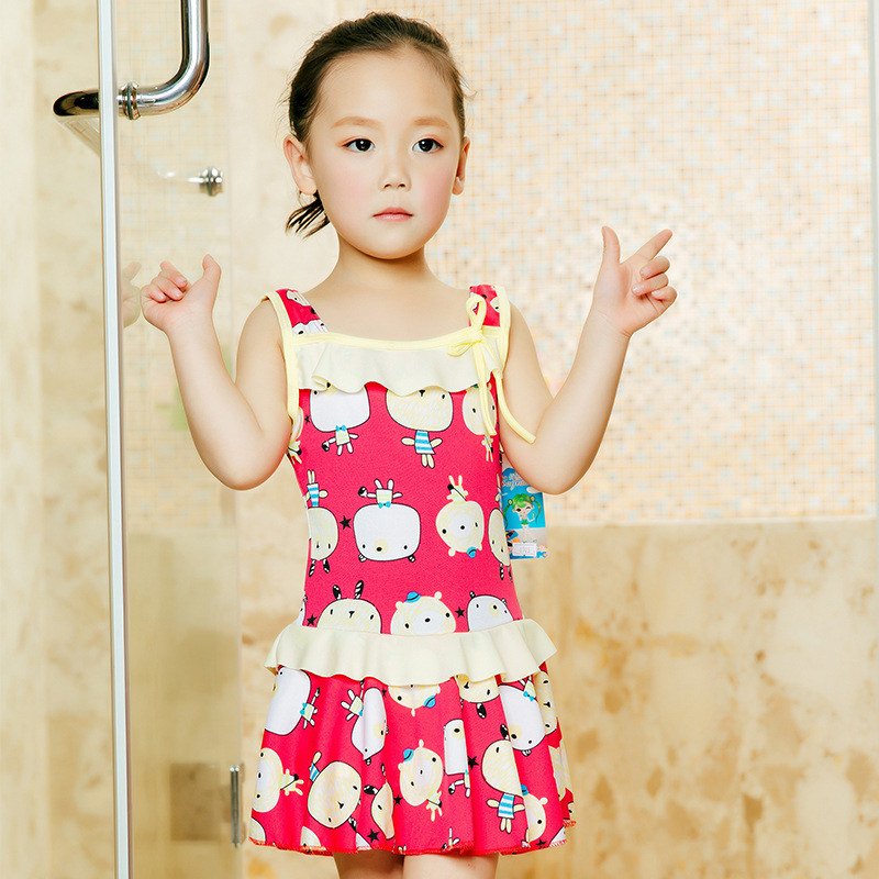 Age Of 3-5 GIRL'S Swimsuit Korean-style Cute KID'S Swimwear Cartoon Baby One-piece Swimming Suit CHILDREN'S Swimsuit Swimwear