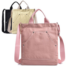 Popular style 2019 new multi-layered Korean women's bag casual one-shouldered oblique span canvas 100 lap