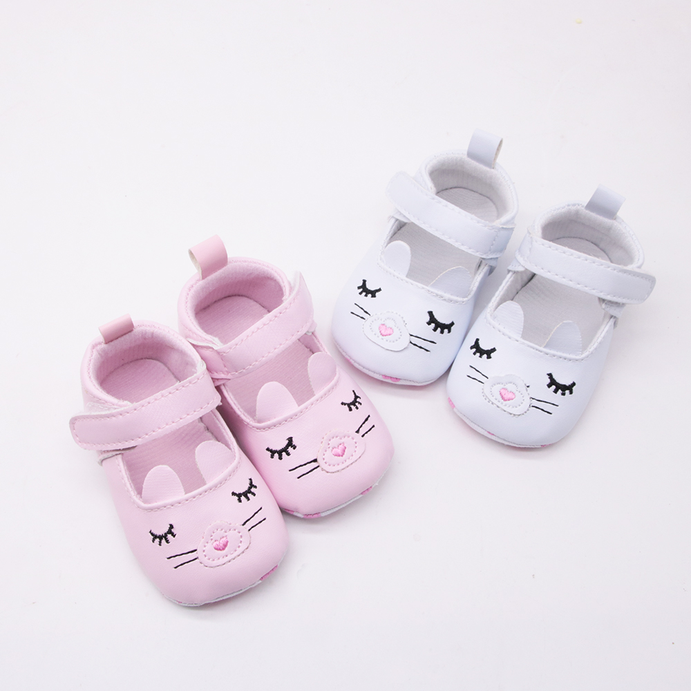 LOOZYKIT Newborn Baby Girl Shoes Spring Cartoon Cat Cotton Baby Shoes First Walkers Comfort Casual Baby Girl Shoes