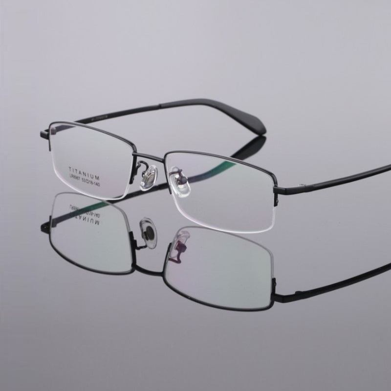 Width-140 Men titanium eyeglasses eyewear frame  new half rim optical myopia reading glasses frame prescription glasses eyewear