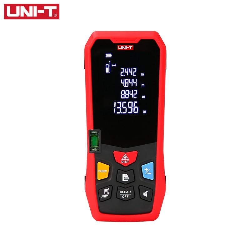 UNI-T Handheld Laser Rangefinder Distance Meter 40M 50M 60M 80M Medidor Laser Tape Build Measure Device Electronic Ruler