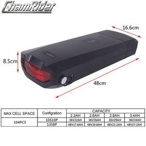 Image 2 - Caja de batería para bicicleta eléctrica, 48V, 36V, 52V, 5V, USB, doble capa, portaequipajes, Shanshan, SSE 078 de plástico, 10S10P, 13S8P