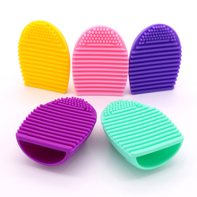 CHMAKE 1PCS Colorful Silicone Beauty Fashion Egg Makeup Brush Cleaning Glove Washing Scrubber Tool Cosmetic Cleaner