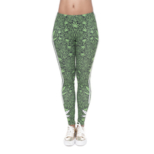 DeanFire Super Soft Stretch Leggings Weeds White Stripes Print Fitness Legging Sexy Silm legins High Waist Trouser Women Pants fashion yoga leggings women neon cat black printing fitness legging silm stretch leggins high waist legins trouser casual pants