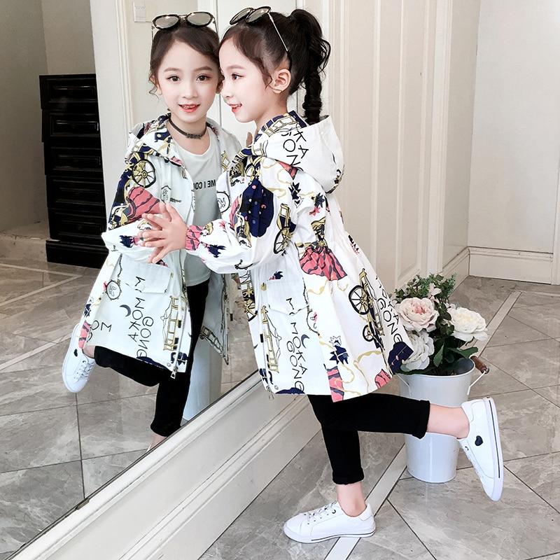 Модный красивый Тренч для девочек, весна осень 2020 Куртки и пальто    АлиЭкспресс