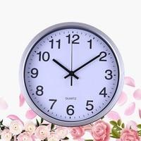 Designed Mountable Needle Clock White Black Silver Quartz Wall Clock for Office Bedroom Home Decoration Ornament|Wall Clocks|   -