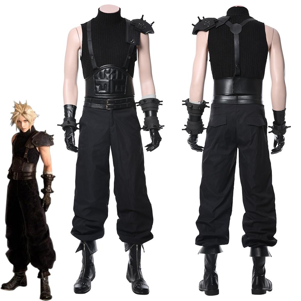 Anime Final Fantasy VII Remake Cloud Strife Cosplay Costume Halloween Carnival Costumes Shoes Boots Adults Men Women Custom Made