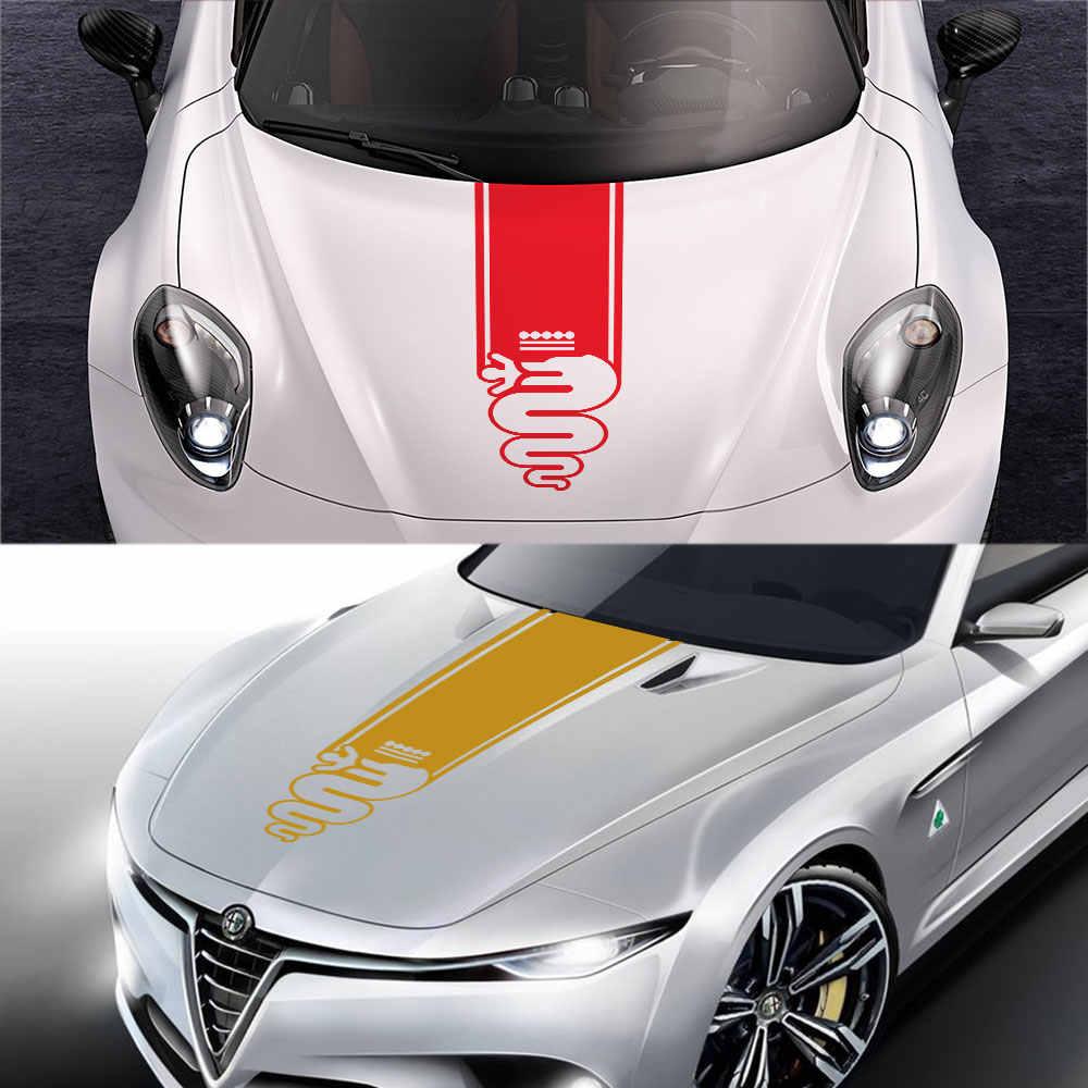 HLLebw Auto Pegatinas de Calcoman/ías For Alfa Romeo Giulia Giulietta 159 156 Mito Stelvio 147 Sportiva Duetto GT