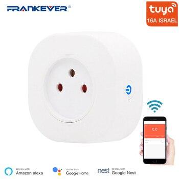цена на FrankEver Tuya 16A Israel WiFi Smart Plug Socket Remote Voice Control Outlet Timing Function Alexa Google Home Smart Household