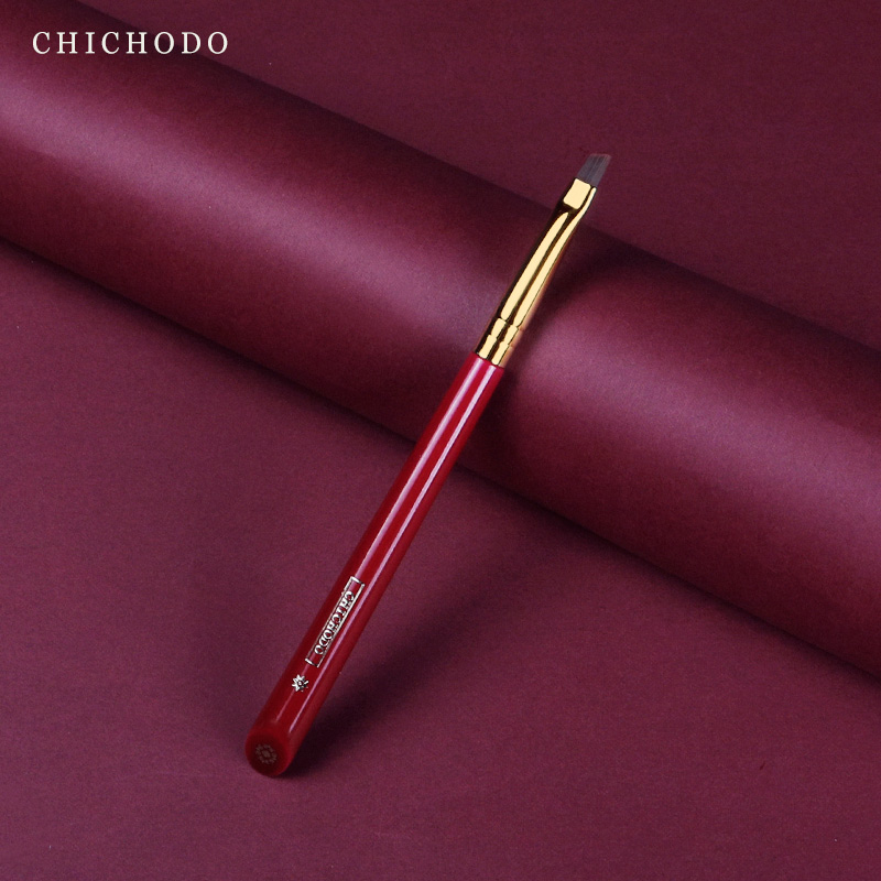 pincel de maquiagem chichodo luxuoso rosa vermelha serie alta qualidade fibra de cabelo escova de sobrancelha