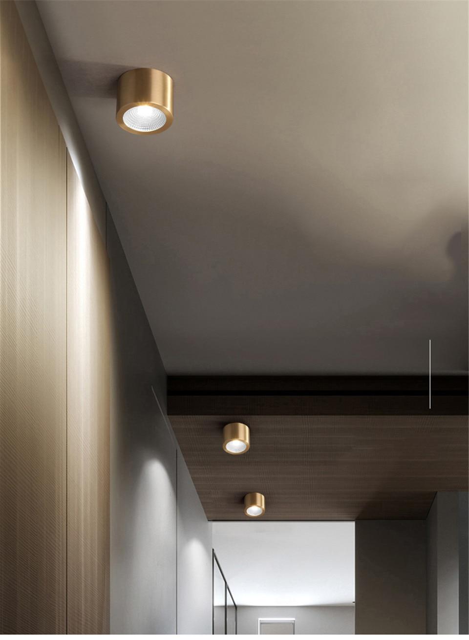 Moderna Iluminação de Teto Levou Rodada Luz
