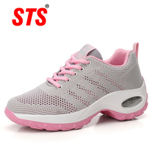 STS Women Sport Casual Shoes Outdoor Breathable Comfortable Ladies Shoes Lightweight Platform Hiking Running Mesh Sneakers цена 2017