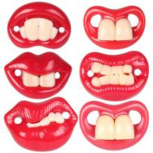 Food Grade Silicone Funny Buckteeth Big Mouth Dummy Pacifiers Nipple Toddler Pacifier Orthodontic Soothers Teat Baby Teether Toy(China)