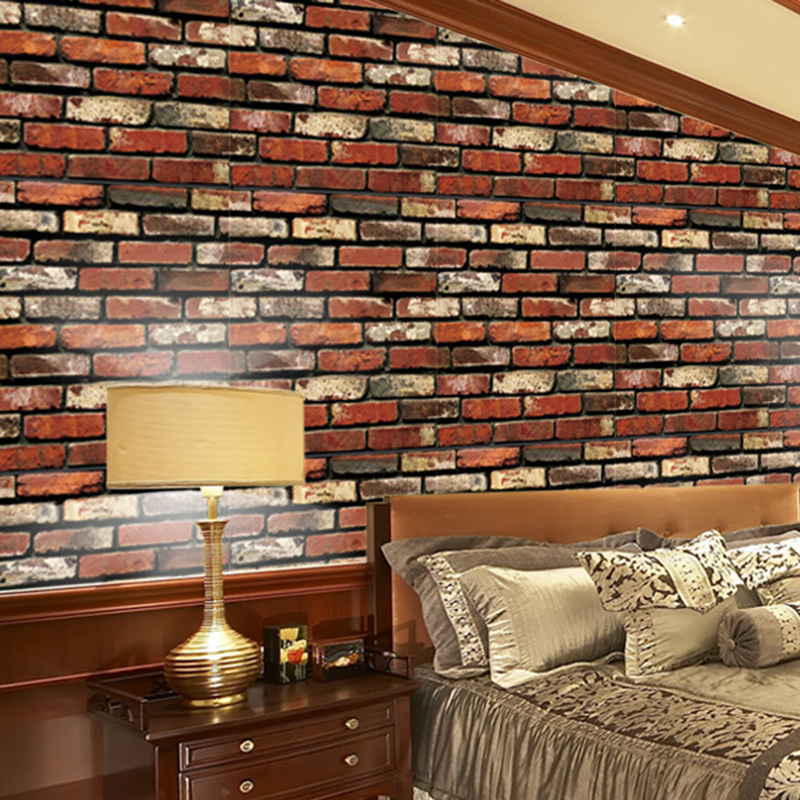 Self Adhesive Wallpaper Waterproof Stone Wall Sticker Brick Wall Paper Decorative Wall Stickers Bedroom Home Decoration Paredes