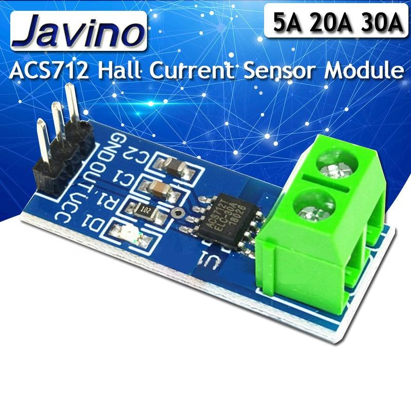 5A 20A 30A модуль датчика тока Холла ACS712 модель для arduino