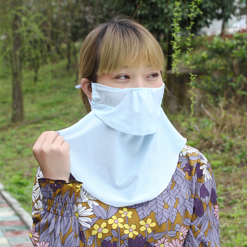 Spring And Summer Ultraviolet Protection Enhanced Neck Mask Dust-proof Ultraviolet Breathable Mask Summer Sunscreen Mask