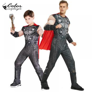 Color Cosplayer Movie Thor Cosplay Costume Boys Fashion Muscle Purim Carnival Party Clothing Mens Stormbreaker Role Player Props image
