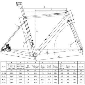 Image 2 - SENSA T800 700C BB68 스레드 최고 품질의 새로운 탄소 도로 프레임 자전거 경주 자전거 frameset 56/58/60/62mm 큰 크기 큰 높이