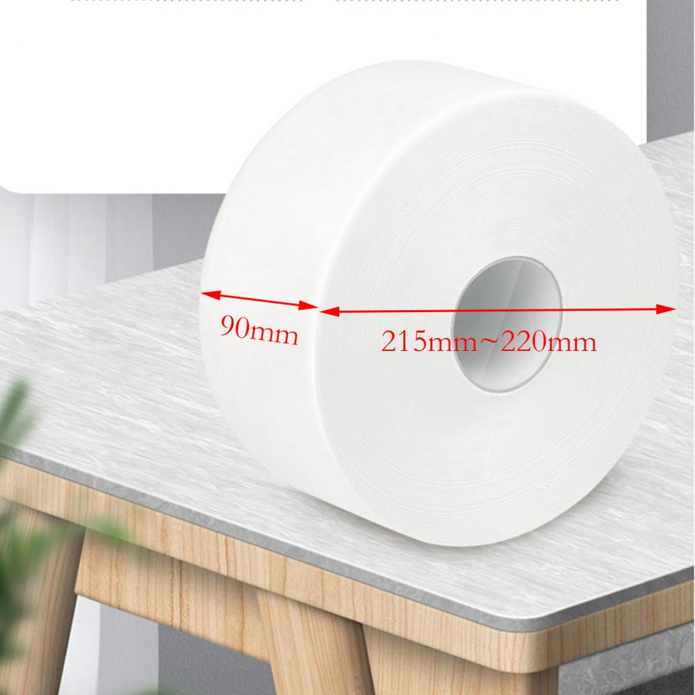 1 Roll Top Quality Jumbo Roll Toilet Paper 3-Layer Native Wood Soft Toilet Paper Pulp Home Rolling Paper Strong Water Absorption