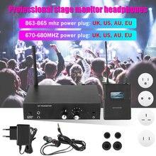 Для ANLEON S2 UHF стерео беспроводной монитор системы 863-865 МГц 670-680 МГц Профессиональный цифровой сценический монитор в уши комплект