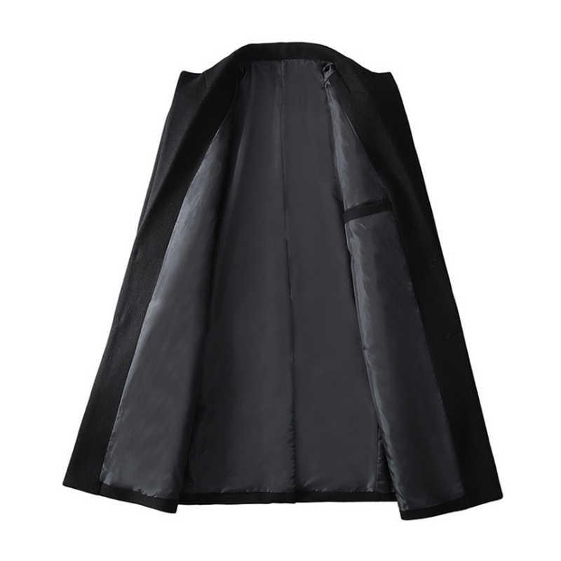 2020 новое шерстяное пальто мужское однобортное модное мужское пальто приталенное шерстяное пальто повседневная мужская брендовая одежда