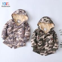 2019 Children Winter Jackets Camouflage Warm Fleece Coats/Jackets For Boys Hoodies Windbreaker Thick Coat DC196
