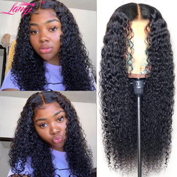 wholesale wigs afro kinky curly human hair wig Brazilian lace front human hair wigs for women headband wig 4x4 lace closure wig