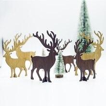 """2 размера деревянные поделки для творчества рождественские украшения для дома Рождественский олень Подвеска """"Олень"""" елочные украшения"""