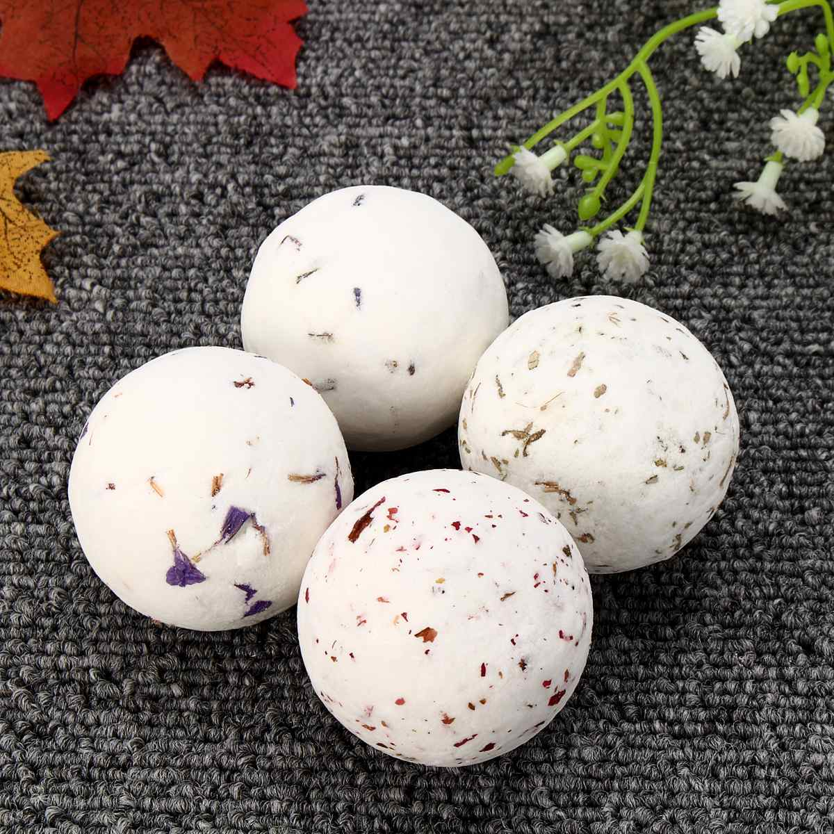 4pcs Whitening Moisture Essential Oil Body Scrubrose Oil Bath Ball Bomb For Home Bathroom Spa Bath Salt Bombs Balls