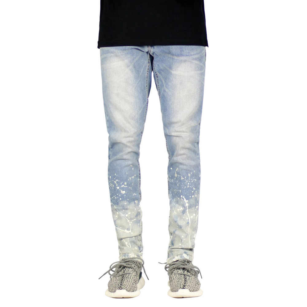 GustOmerD New Fashion Men's Jeans Brand Quality Cotton Pants Casual Patchwork Sknny Jeans Men Clothing