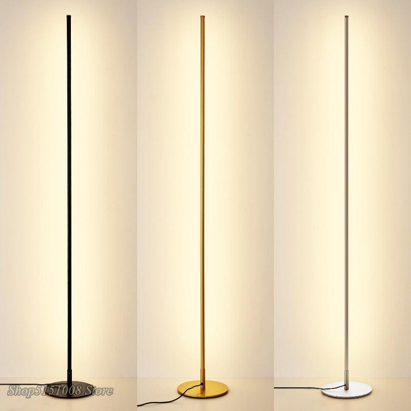 Lampadaires LED minimaliste nordique lampes sur pied créatives pour salon LED luminaires en métal noir Luminaria