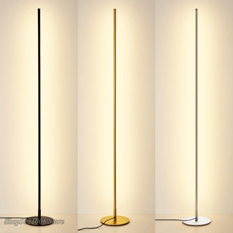 Nordic Minimalist LED Floor Lamps Creative Stand Lamps For Living Room Led Black Metal Luminaria Standing Lamp Lampara Fixtures