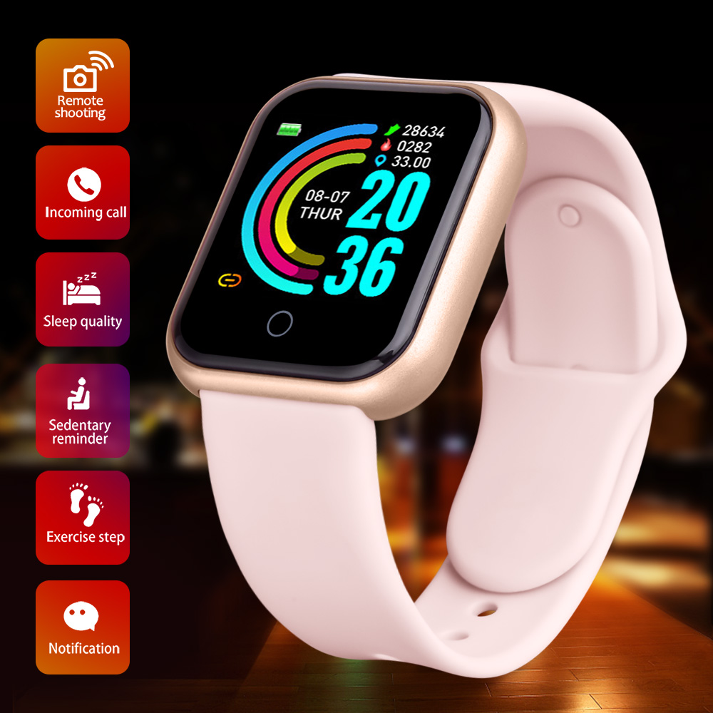2020 Smartwatch Smart Watch Men Women Blood Pressure Heart Rate Monitor Bluetooth Fitness Watch Smart Bracelet For Android IOS 1