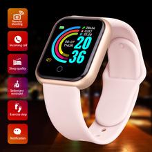 2020 Smartwatch inteligentny zegarek mężczyźni kobiety ciśnienie krwi tętno monitora Bluetooth zegarek do Fitness inteligentna bransoletka dla Android IOS tanie tanio Hisomone CN (pochodzenie) Brak Na nadgarstku Wszystko kompatybilny 128 MB Passometer Uśpienia tracker Wiadomość przypomnienie