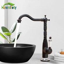 Sink-Faucet Bathroom Antique Brass Deck-Mount Orb-Basin Cold-Mixer Single-Handle Hot