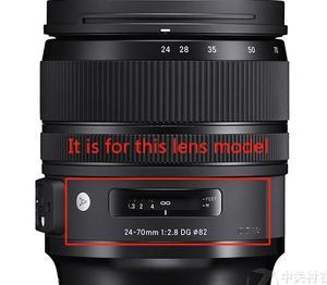 Image 3 - Yeni 24 70 2.8 sanat 1st Lens grubu ön Lens optik elemanı cam Sigma 24 70mm f2.8 DG OS HSM sanat yedek parça