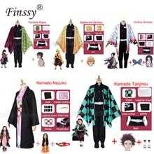 Anime Exhibition Cartoon Character Cosplay Costume Demon Slayer Kimetsu no Yaiba Tanjirou Nezuko Cosplay Kimono Wig