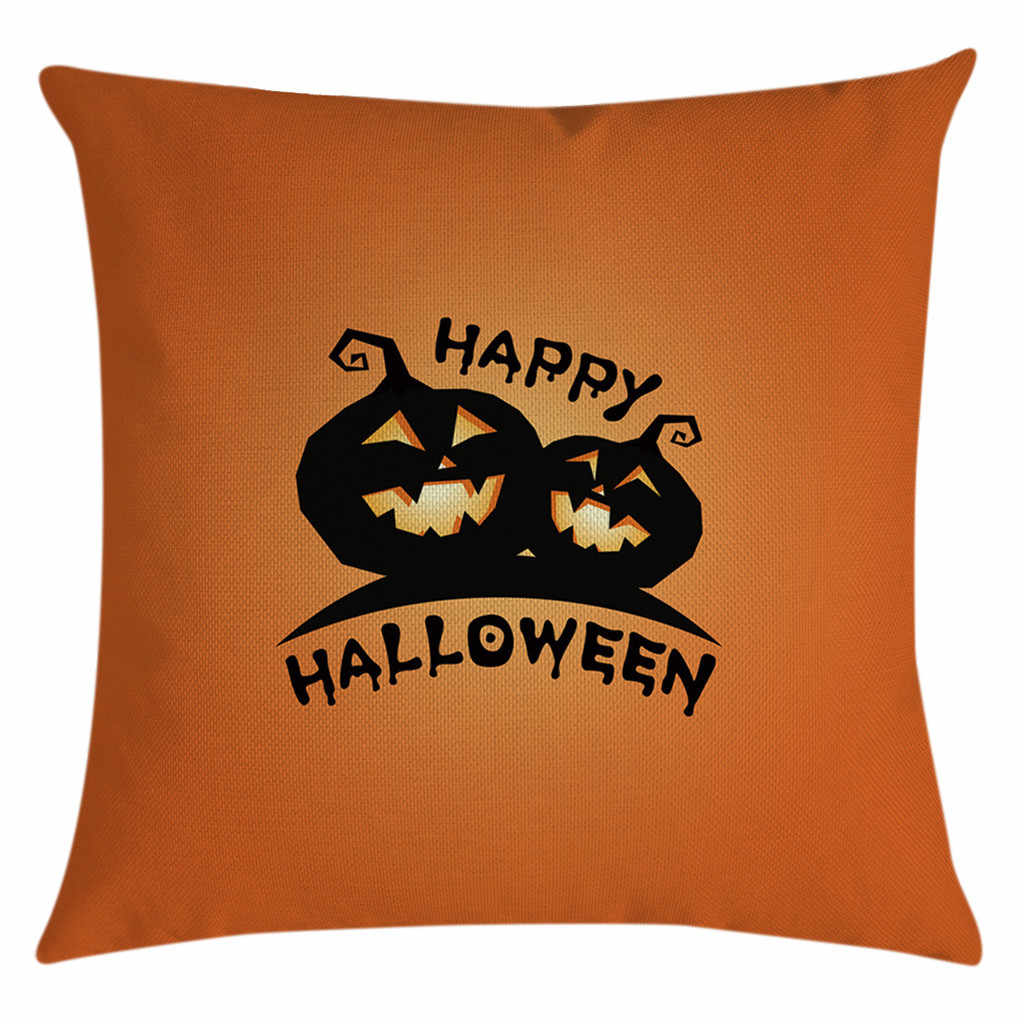 Halloween Hantu Penyihir Labu Melempar Bantal Case Kucing Ajaib Sarung Bantal Dekorasi Happy Fall Kalian Hantu Horor Sarung Bantal