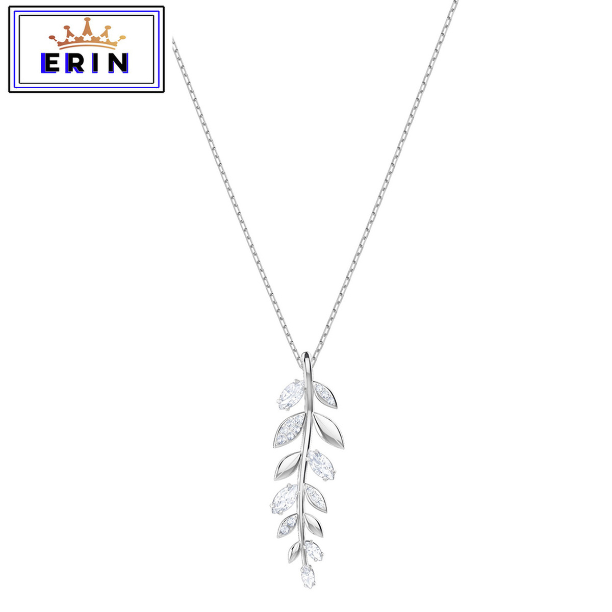 ERIN  High quality SWA new exquisite simple Rose crystal gold leaf gift Necklace