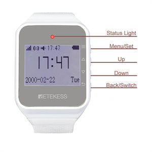 Image 2 - Retekess מסעדת הביפר 40pcs T117 שיחת כפתור + 4pcs TD108 שעון מקלט + מקלט מארח + אות מהדר אלחוטי קורא מערכת