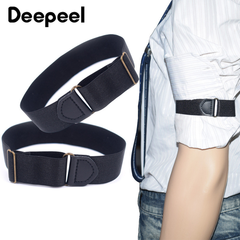 Deepeel 1/5pair 2.5X35cm Adult Unisex Shirt Sleeves Slip Straps Fashion Armbands Suspenders Casual Suit Decoration Accessories