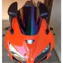 Motorcycle Double Bubble Windshield WindScreen Screen For 2005 2006 Honda CBR600RR CBR 600 RR F5 05 06 Black Iridium