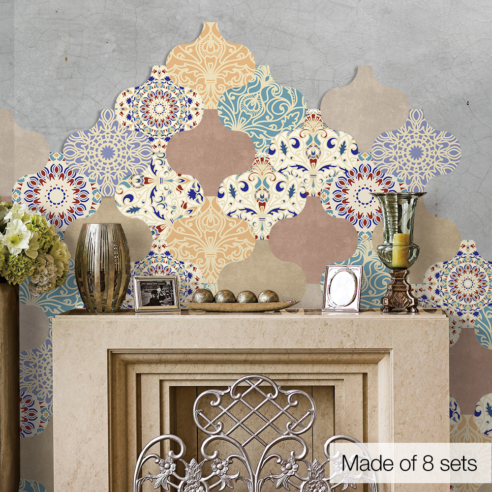 - Waterproof Vinyl Wall Tiles Sticker For Home Decor Self Adhesive