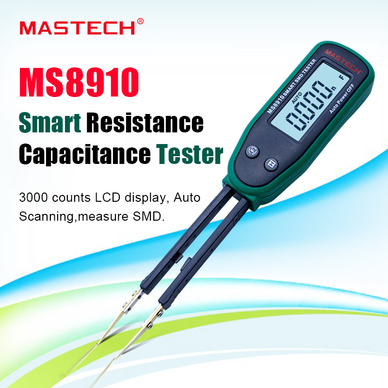 Multimeter MASTECH <font><b>MS8910</b></font> SMD Auto identify Resistance tester capacitance meter diode tesing smart scan image