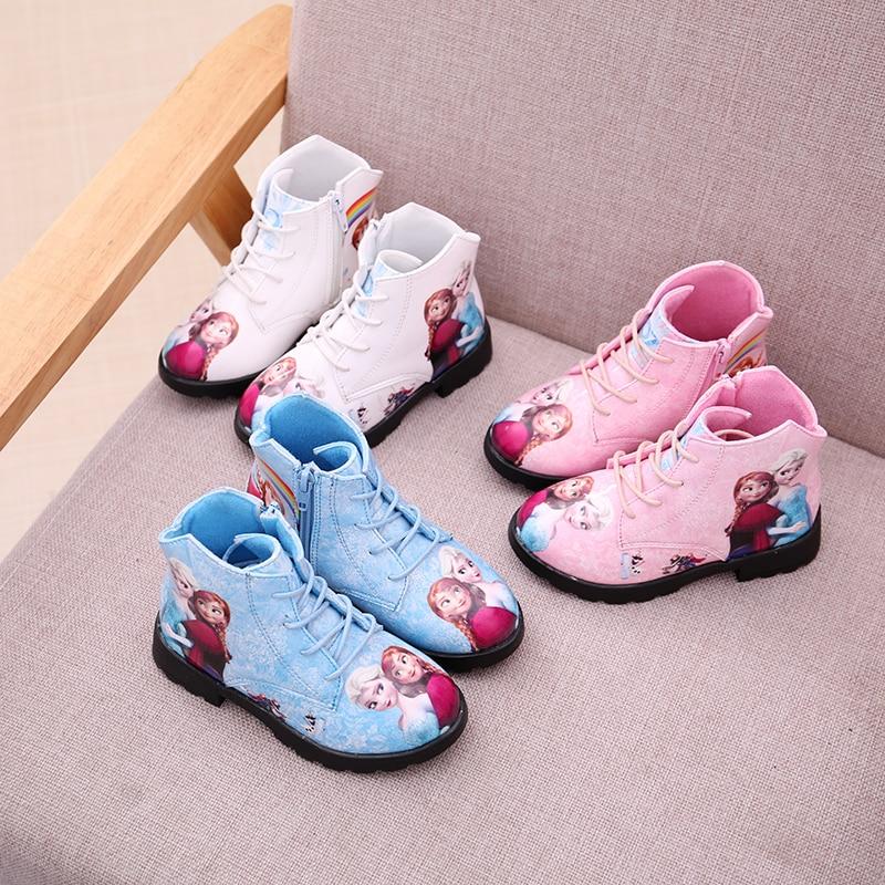 Children baby girls elsa boots kids Princess shoes winter snow toddler botas niña bota infantil motorcycle martin boots in Boots from Mother Kids