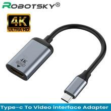 4K USB C vers VGA/DP/HDMI-compatible/Mini câble DP Type C vers HDMI Thunderbolt 3 adaptateur pour MacBook Pro Samsung S20 4K UHD USB-C