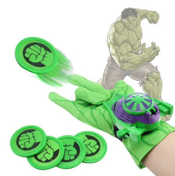 Super heróis luva lançador adereços spiderman hulk homem de ferro quente marvel avengers cosplay legal presente luva lançador para o miúdo