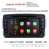 7 Inch Android 10 2 Din 4 Core IPS Car radio DVD player For Mercedes Benz CLK W209 W203 W208 W463 Mirror Link DAB+ DSP 2GB 16GB